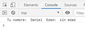 Imagen de ejemplo salida por consola Chrome
