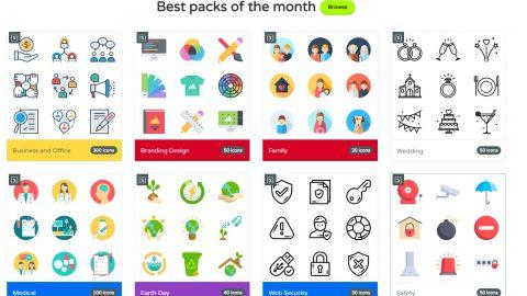 Buscadores de Iconos para Web